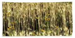 Among The Wheat 3 Hand Towel by Jimmy Ostgard