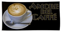 Amore Del Caffe Poster Hand Towel