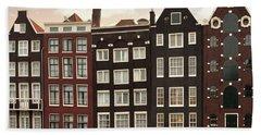 Amsterdam Architectre At Twilight Hand Towel