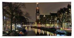 Amsterdam By Night - Prinsengracht Hand Towel