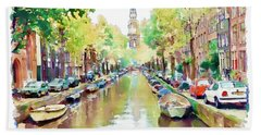 Amsterdam Canal 2 Hand Towel