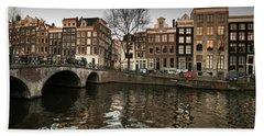 Amsterdam Canal Bridge Bath Towel