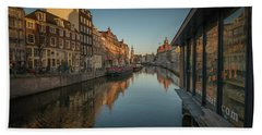 Amsterdam Canal Hand Towel