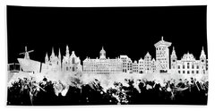 Amsterdam Skyline Black And White 2 Hand Towel