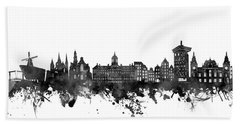 Amsterdam Skyline Black And White Hand Towel