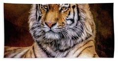 Amur Tiger Hand Towel by Brian Tarr