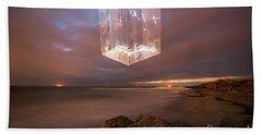 An Alien Space Craft Above Folly Beach Bath Towel by Robert Loe