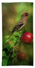 An Apple A Day Bath Towel by Lana Trussell