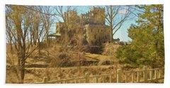 An Artistic View Of Gillette Castle. A Connecticut Sate Park. Bath Towel