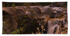 An Artistic View Of Screw Augar Falls,maine Bath Towel