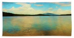 An Artistic View Of Somerset Reservoir In Southern Vermont Bath Towel