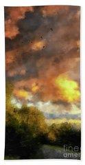 Bath Towel featuring the digital art An August Sunset by Lois Bryan