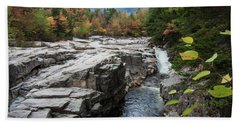 An Autumn View Of The Swift River, Lower Falls Area White Mounta Bath Towel