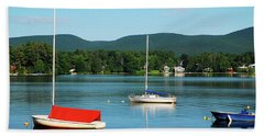 An Early Calm On A Berkshire Lake Hand Towel