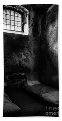 Hand Towel featuring the photograph An Empty Cell In Old Cork City Gaol by RicardMN Photography