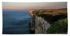 An Evening At Bempton Cliffs Bath Towel by David  Hollingworth