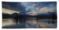 An Evening At Sparks Lake Hand Towel by Lynn Hopwood