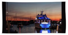 Bath Towel featuring the photograph An Evening In Newport Rhode Island II by Suzanne Gaff