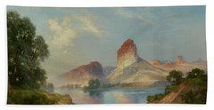 An Indian Paradise , Green River, Wyoming Hand Towel