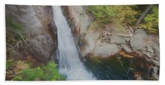 An Intimate View Of A Small Waterfall. Listen To The Peaceful So Bath Towel