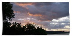 An Ohio River Valley Sunrise Bath Towel