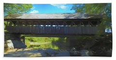 An Old Covered Bridge In Western Maine. Time Is Leaving This Old Bath Towel