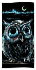 An Owl Friend Hand Towel by Alessandro Della Pietra