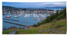 Anacortes Peaceful Morning Hand Towel by Ken Stanback