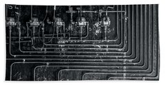 Hand Towel featuring the photograph Analog Motherboard 1 by James Aiken