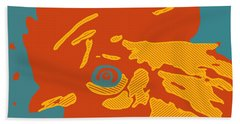 Analog Rooster Rocks Hand Towel