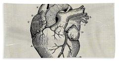 Anatomical Heart Medical Art Hand Towel