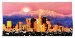 Bath Towel featuring the digital art Anchorage - Bright-named by Elaine Ossipov