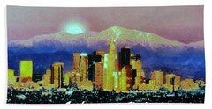 Bath Towel featuring the digital art Anchorage-subdued by Elaine Ossipov