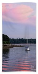 Anchored At Peaks Island, Maine  -07828 Hand Towel by John Bald