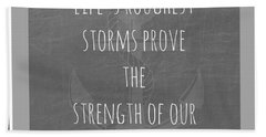 Anchors Light Gray Bath Towel by Inspired Arts