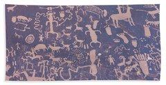 Ancient Carvings Bath Towel