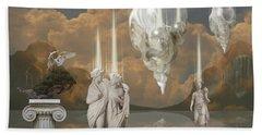 Bath Towel featuring the digital art Ancient Civilization by Alexa Szlavics