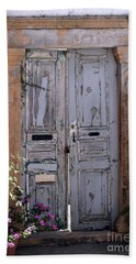 Ancient Garden Doors In Greece Hand Towel
