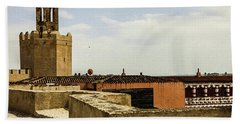 Ancient Moorish Citadel In Badajoz, Spain Hand Towel