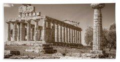 Ancient Paestum Architecture Hand Towel