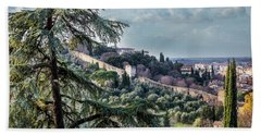 Ancient Walls Of Florence Hand Towel by Sonny Marcyan