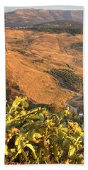 Bath Towel featuring the photograph Andalucian Golden Valley by Ian Middleton