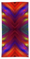 Hand Towel featuring the digital art Andee Design Abstract 1 2015 by Andee Design