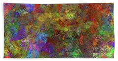 Bath Towel featuring the digital art Andee Design Abstract 12 2017 by Andee Design