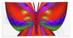 Hand Towel featuring the digital art Andee Design Abstract 2 2015 by Andee Design