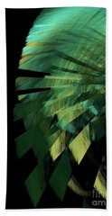 Bath Towel featuring the digital art Andee Design Abstract 25 2017 by Andee Design