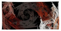 Bath Towel featuring the digital art Andee Design Abstract 29 2017 by Andee Design