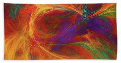 Bath Towel featuring the digital art Andee Design Abstract 33 2017 by Andee Design