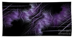 Bath Towel featuring the digital art Andee Design Abstract 40 2017 by Andee Design