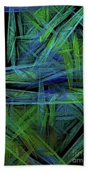 Hand Towel featuring the digital art Andee Design Abstract 61 2017 by Andee Design